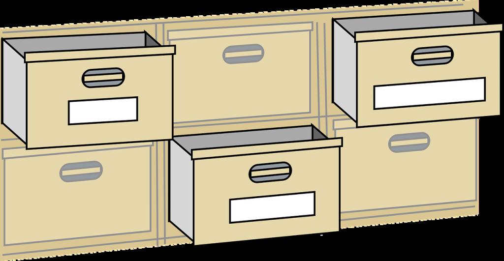 tan filing cabinet